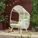 Outdoor Standing Wicker Basket Chair