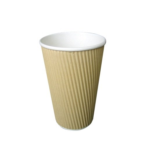Plain Riped Paper Coffee Cup, For Event, Capacity: 300 ML