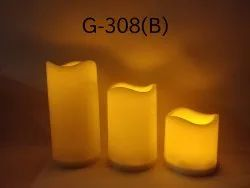 Flickering LED Pillar Candle set