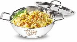 Stainless Steel Kadhai With Lid (Tribot Series)