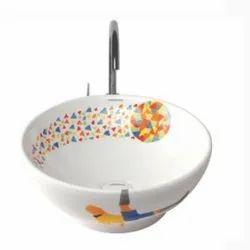Table Top Wash Basin Foot Ball Glossy