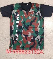 Drifit Green ARMY T SHIRTS, Size: XL