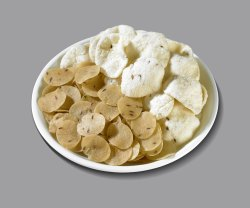 Round 30mm And 45mm Yellow Jeera Rice Papad, Packaging Size: Bulk Packing