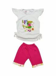 KINDER CHOICE INTERLOCK NEW BEAUTIFUL DESIGN TOP & PANTS FOR GIRLS