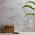 3D Designer Decorative Stone Leaf pattern Carrara White