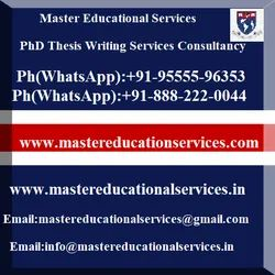 Social Sciences PhD Thesis Writing Services Consultancy