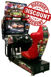Hully Gully Electric Need For Speed Arcade Game Machine - Economic Model - 32