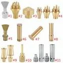 Brass Fountain Nozzle Adjustable Multi Direction Ball Joint Jet Water Sprinkler Spray Head