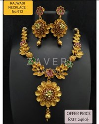 912 Rajwadi Antique Necklace Sets