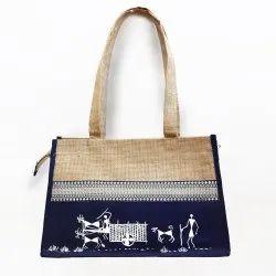 Ladies Loop Handle Jute Bag