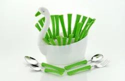 Spoon Set for Kitchen Use with Stand-Cutlery Set for Dining Table