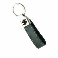 黑色皮革钥匙扣促销,促销礼品