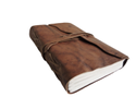 Half Flap Vintage Leather Bound Journal