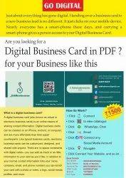 Multicolor Pdf digital visiting card, Size: 90 X 55 Mm