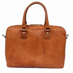 Rexx Brown Ladies Plain Leather Handbag