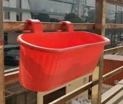 V Railing Double Hook Planter -15