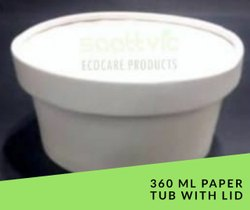 360 ML Disposable Paper Food Containers with plastic lid