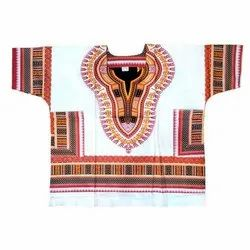 Multicolor African print Dashiki Tops, 120 Gsm