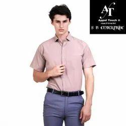 Appel Touch Plain Men Cotton Half Sleeve Shirt, Handwash