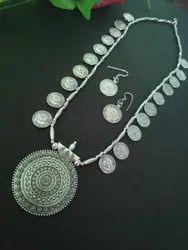 Ronak German Silver Handmade Necklace Set, Box