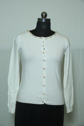 0007 Woolen Cardigan With Button