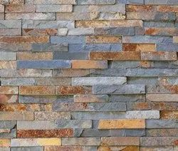 Brown Stone Split Wall Cladding, Thickness: 15 Mm