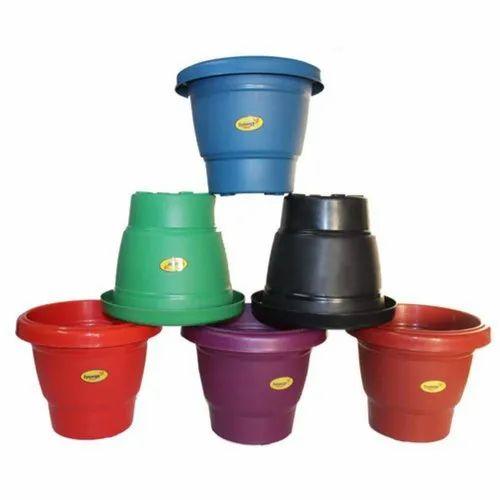 V Shape 6inch Pot Gardening Plastic Flower Pots, for Plantation