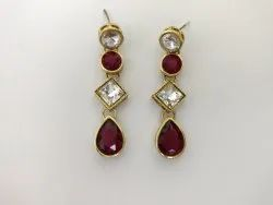 Small Glass Stone Earrings