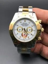 Automatic Stainless Steel Rolex Silver And Gold Watch For Man
