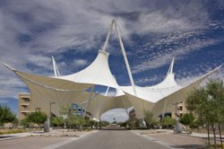 Entrance Modern Tensile Fabric Structure