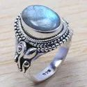 925 Sterling Silver Light Weight Jewelry Tiger Eye Ring WR-6559