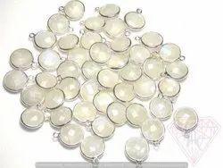 White Rainbow Gemstone Connector