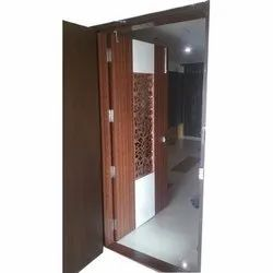 Wooden Safety Door, For Home, Size: 7 X 3feet