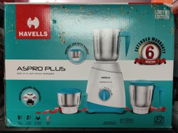 Aspro Plus Havells Mixer Grinder, For Kitchen, Capacity: 3 JARS