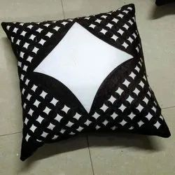 Black And White Printed Cushion