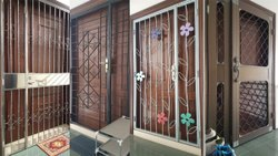 Silver Mild Steel Door, For Office, Single