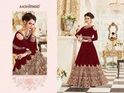 Ashirwad Creastion Wedding Wear Codding Worked Long Anarkali Salwar Suit