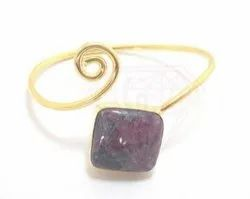 Gold Plated Ruby Bangles