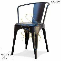 Suren Space Powder Coated Iron Black Chair, Size: 42 X 51 X 75 Cm