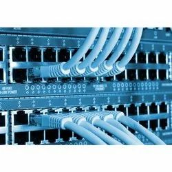 Blue LAN  Capable 48 Port InLine Power Network Switch, For Telecommunication