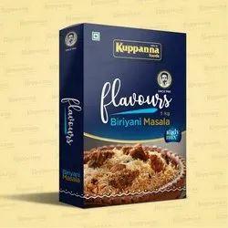 Flavours 1 Kg Kuppanna Biryani Masala, Packaging Type: Box