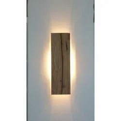 Pure White 1.2 Feet Wall Wooden Light Lamp, 5 W