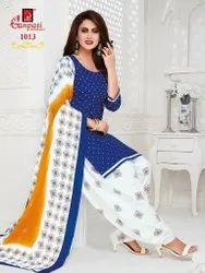Straight Stitched Jighyasha Vol 10 Ganpati Cotton Readymade Dress, Handwash