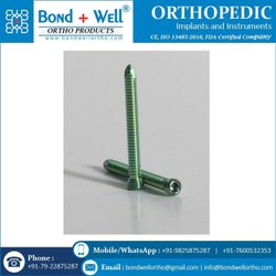 Bond Well Stainless Steel And Titanium Orthopedic Implants Self Tapping Locking Screws