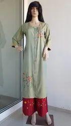 Rayon Embroidered Plazzo set