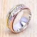 Light Weight 925 Sterling Silver And Brass Jewelry Ring Sjwr-36