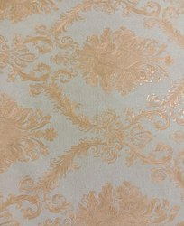 Royal Pattern Pvc Sky Blue Jewellery Type Wallpaper, For Home, Size: 21inch*33feet
