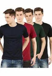 Cotton 160 GSM Plain Men T-Shirts