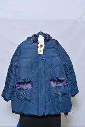 Blue Girls LJ03 Fluffy Jackets