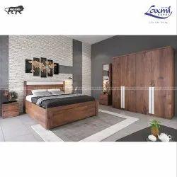 LAXMI KAPAT Particle wood Wooden Designer Bedroom Set, For Storage Provider, Size: Queen